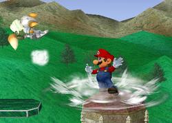 Lanzamiento trasero de Mario (2) SSBM