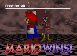 Pose de victoria de Mario (2-1) SSB