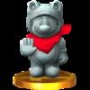 Trofeo de Mario estatua SSB4 (3DS)