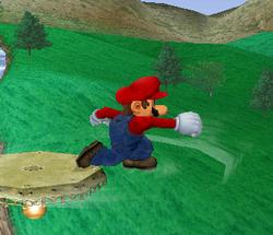 Ataque de recuperación de cara al suelo de Mario (2) SSBM