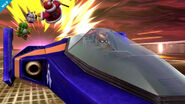 Captain Falcon usando su Smash Final SSB4 (Wii U)