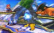 Lucario, Charizard, Mario y Pikachu en el Campo de Batalla SSB4 (3DS)