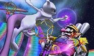 Mewtwo y Wario en la Senda Arco Iris SSB4 (3DS)