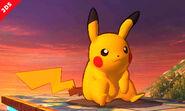 Pikachu en el Campo de Batalla SSB4 (3DS)