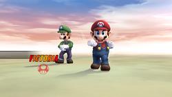 Pose de victoria lateral (2) Mario SSBB