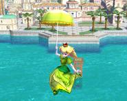 Sombrilla de Peach paleta verde SSBB