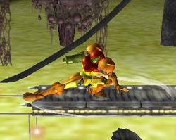 Ataque Smash hacia abajo de Samus (2) SSBM