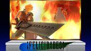 Créditos Modo Leyendas de la lucha Cloud SSB4 (Wii U)