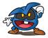 Pegatina de Virus azul SSBB