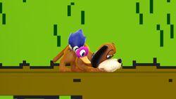 Pose de espera 1 Dúo Duck Hunt SSB4 (Wii U)