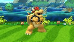 Pose de espera de Bowser (1-1) SSB4 (Wii U)