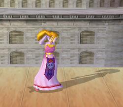 Pose de espera de Zelda (3-1) SSBM