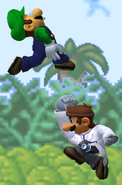 Súper Salto Puñetazo Dr. Mario SSBM