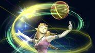 Zelda usando Viento de Farore SSB4 (Wii U)