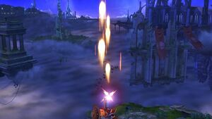 Ataque aéreo hacia arriba Tirador Mii SSB4 Wii U