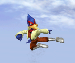 Ataque aéreo normal de Falco SSBM