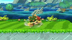 Ataque de recuperación por tropiezo de Bowser SSB4 (Wii U)