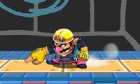 Ataque fuerte hacia abajo de Wario SSB4 (3DS)