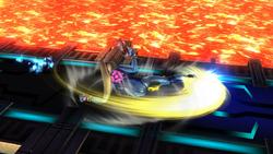 Ataque fuerte inferior de Samus Zero SSB4 (Wii U)