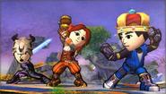 Créditos Modo Senda del guerrero Luchador Mii SSB4 (3DS)
