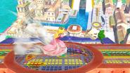 Peach lanzando una verdura SSB4 (Wii U)
