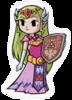 Pegatina Zelda Joven Minish Cap SSBB