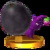 Trofeo de Pikmin Morado SSB4 (3DS)