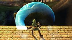 Ataque Smash hacia arriba Link SSBB (1)