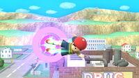 Ataque aéreo hacia atrás Ness SSB4 (Wii U)