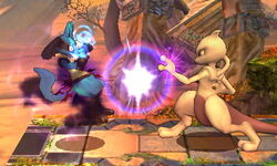 Ataque normal Mewtwo (2) SSB4 (3DS)
