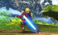 Burla inferior Shulk SSB4 (3DS)
