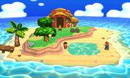 Mario y el Aldeano en la Isla Tortimer SSB4 (3DS)