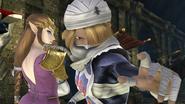 Créditos Modo Senda del guerrero Sheik SSB4 (Wii U)