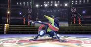 Greninja en el Cuadrilátero SSB4 (Wii U)