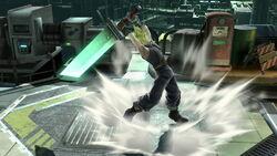 Ataque Smash hacia arriba Cloud SSB4 (Wii U)