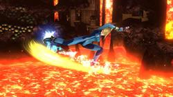 Ataque aéreo hacia atrás de Samus Zero SSB4 (Wii U)