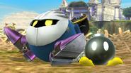 Meta Knight junto a un Bob-omb en Altarea SSB4 (Wii U)