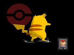Pose de victoria Pikachu B (3) SSBM