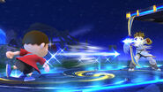 Aldeano lanzando una Flecha de Palutena SSB4 Wii U