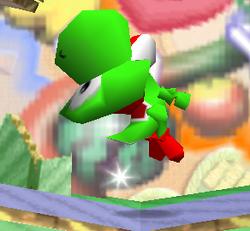 Ataque Smash hacia arriba de Yoshi SSB