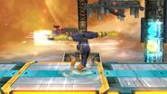 Ataque de recuperación boca arriba de Captain Falcon SSB4 (Wii U)