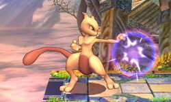 Ataque normal Mewtwo (1) SSB4 (3DS)