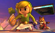 Toon Link y Fox en el Battlefield de 3DS - (SSB. for 3DS)