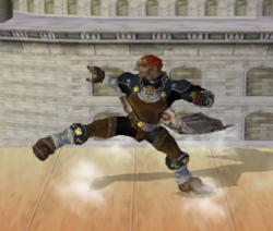 Ataque Smash hacia abajo de Ganondorf (2) SSBM