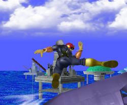 Ataque de recuperación desde el borde -100% de Captain Falcon SSBM