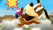 Duck Hunt asustado por el disparo SSB4 (Wii U)