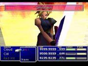 Límite al máximo en el menú de batalla en Final Fantasy VII
