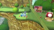 Toad en el escenario Circuito Mario SSB4 (Wii U)