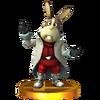 Trofeo de Peppy Hare SSB4 (3DS)