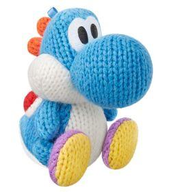 Amiibo Yoshi de lana azul claro (serie Yoshi's Woolly World)